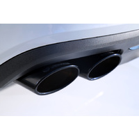 HEICO SPORTIV quad tailpipe kit, black chrome V60 TYP 225, T6, B4204T* ECA2, FOR ORIGINAL REAR SKIRT (TRAPEZIUM SHAPE)