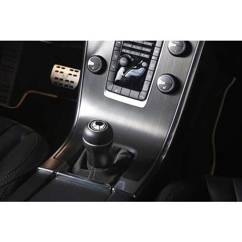 Gear shift knob aluminium/black leather illuminated AT from MY 13 on V40/V40CC (525/526)