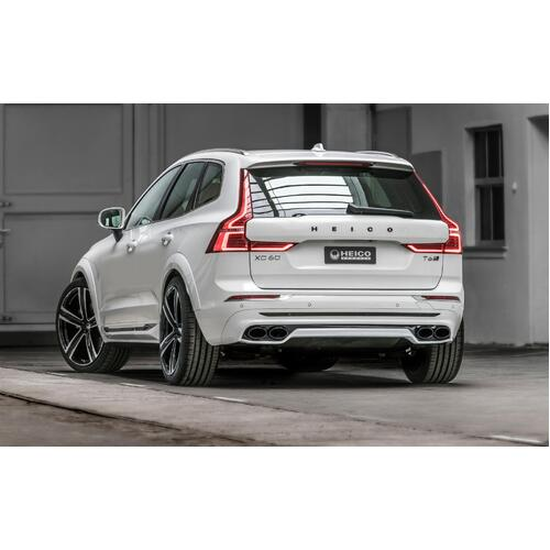 Rear skirt incl. active quad tailpipe sport exhaust system with flap control, black chrome XC60 (246) MY 18-21 T5/T6/B5/B6